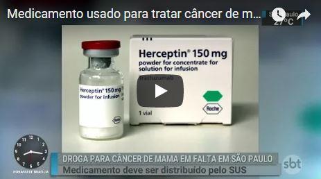 Trastuzumabe, usado para tratamento de câncer de mama metastático, está em falta em SP